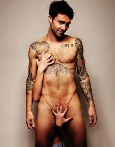 Hmm, Adam Levine. I love a cheeky boy.